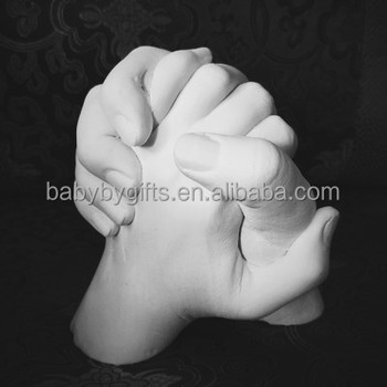 Adult 3D Handprint Hands Cast Life Casting Kit for Wedding Anniversary Valentines Engagement Pre-Bereavement Family Gift