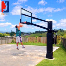 inground adjustable basketball hoop, sport equipment training with sport net, full size 12mm glass backboard