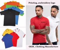 High quality HJPS-003 custom cotton plain golf polo shirt wholesale in clothing manufacture
