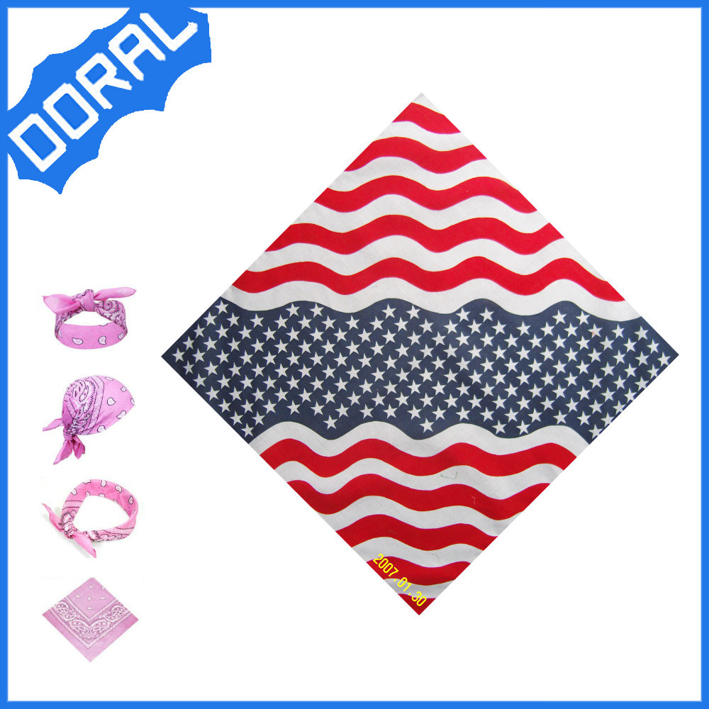Wholesale Cheap Double Printed swiss sege headtie Square Cotton Bandanas