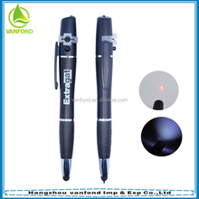 High quality multifunctional customized promotional stylus pen with led light and laser light