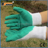 BSSAFETY Crinkle latex worker use safety gloves