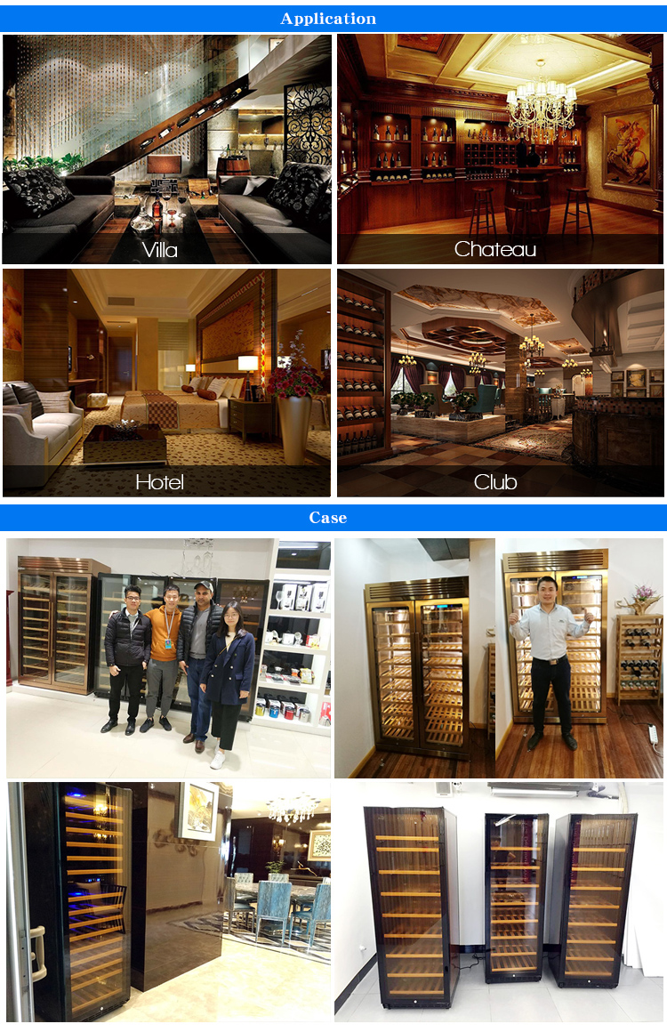 LVNi high-end vertical 168 bottles cans led corner dual zone wooden wine cellar cooler refrigerator fridge