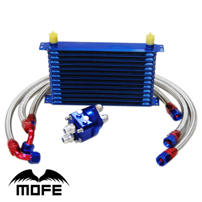 MOFE Racing 13 Rows Aluminum Transmission Oil Cooler Relocation Kit