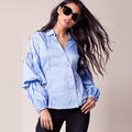 Newest fashion blouses for lady woman shirt long sleeves latest blouse design picture