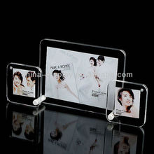 High quality 3 layered acrylic photo picture frames crystal photo frame