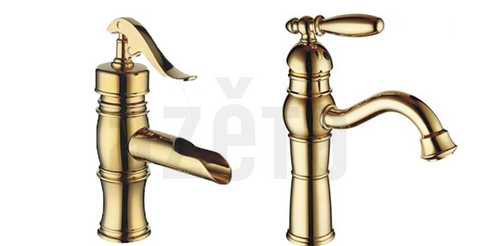 New Bathroom Basin Sink Mixer Tap Deck Mounted Faucet Single Handle Single Hole Golden Mixer NO:AT888G