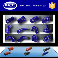 Blue/black/red turbo hose for bus/ silicone material/polyester or nomex reinforced/durable and long working life