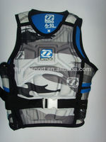 Hot sale, high quality, neoprene, nylon, elastic PU, lycra life jacket models