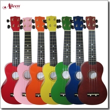 Wholesale Linden Plywood Colorful Soprano 21 Inch Ukulele (AU01H)