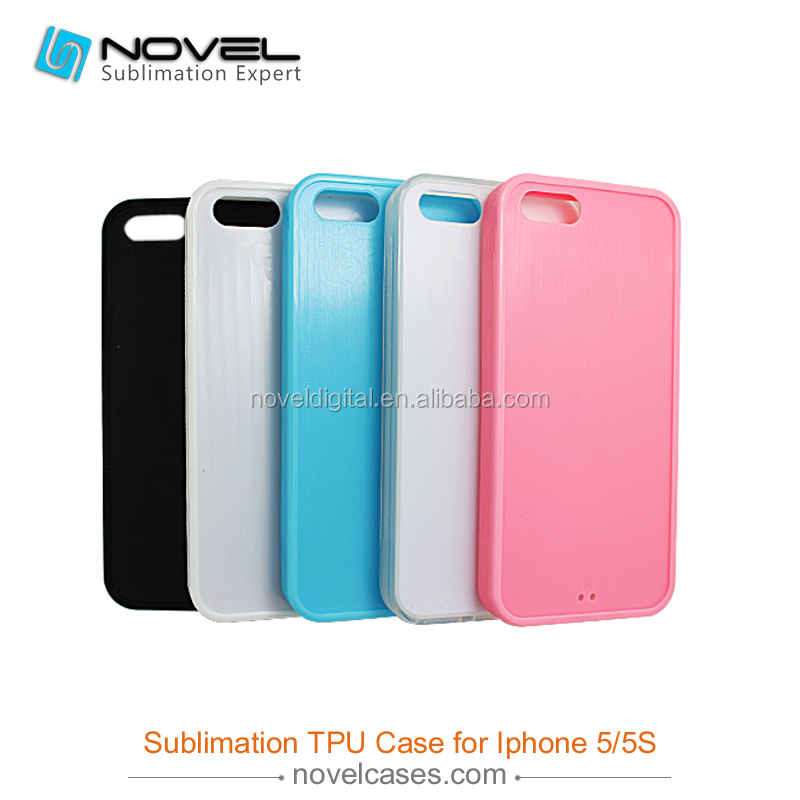 DIY Sublimation Blank Rubber Phone Case For iPhone5/5s