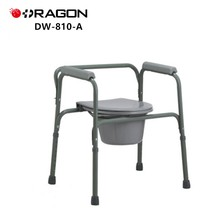 DW-810-A Medical Decorative Aluminum Commode Chair
