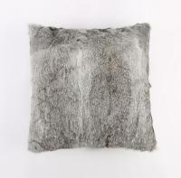 Soft and Cheap Cushion Covers Patchwork Real Rabbit Fur Pillow