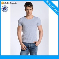 2016 Wholesale Tight Fit T Shirt Blank Men T-shirt For Printing