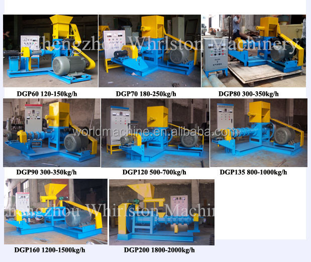 1-12mm round fish feed making machine for fish farm using