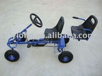 Two seat outdoor fun pedal go kart