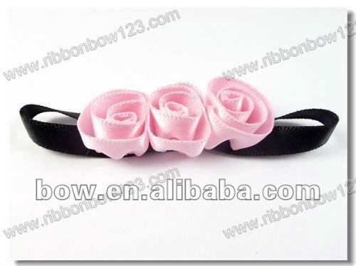 ribbon artificial flowers for clothes ornament