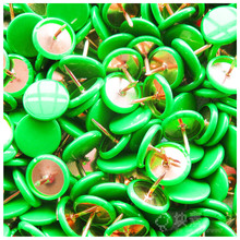 Wholesale pp box packing colored plastic coated thumb tacks