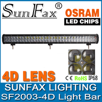 SUNFAX high power 4D Optic Lens led light bar 36inch 234w OSRAM car led light bars for offroad 4WD 4x4 jeep