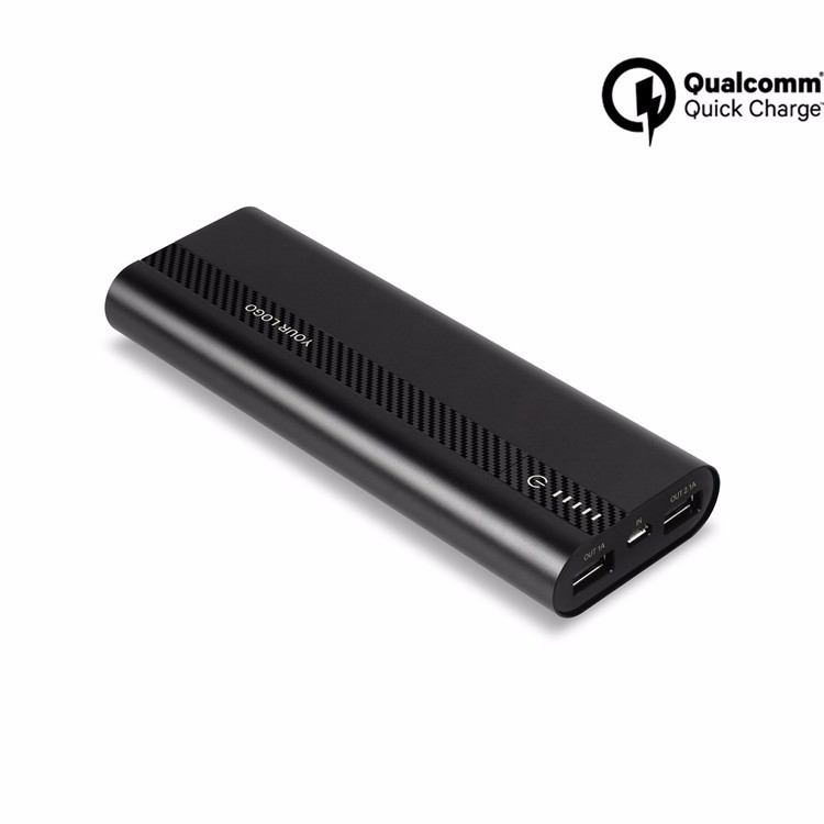 Qualcomm certificate qc2.0 quick charger power bank accept OEM and ODM qc3.0 power bank