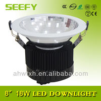 smd led economical downlight 8inch 18W LED recessed Fixture Ceiling Downlight with reflector white surface