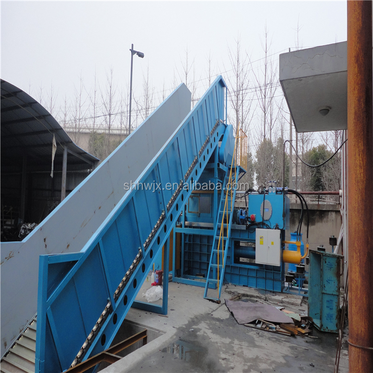hydraulic full automatic waste carton paper compress machine plastic pet Bottle Baler Machine