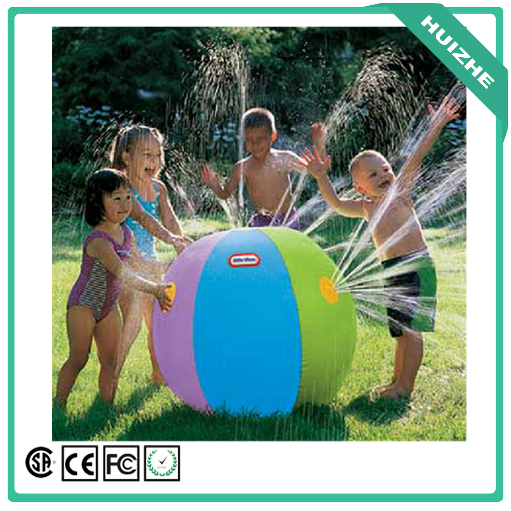 Factory cheap price discount PVC garden water sprinkler ball, water spray beach ball