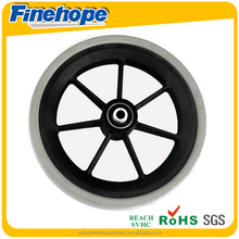 OEM Customize logo PU foam filling rubber tire flat free baby stroller tire cheap solid tire
