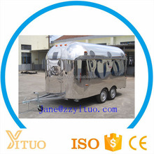 Stainless Steel HIgh Quality Street Mobile Food Cart Kiosk Van Trailer for Sale