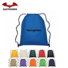 100% Polyester Drawstring Bag Pull String Backpack Gym Bag