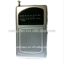 Hot sales AM/FM ultra slim radio with speaker