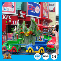 amazing theme park electric track train water amphibious chariots island outdoor amusement rides