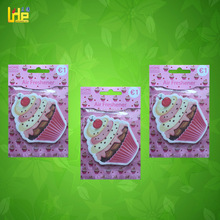 promotion gift ice-cream pattern hanging absorbent paper car vent air freshener aroma for girls