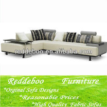 high end sectional fabric leather sofa
