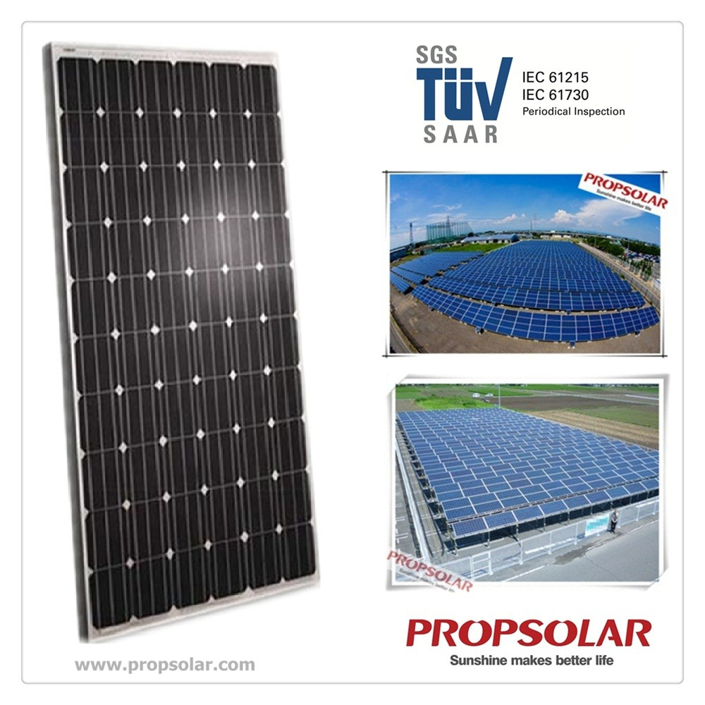 Propsolar SGS,TVU certificate monocrystalline solar pv <strong>panel</strong> 260w with cheap price