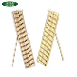 wood/ bamboo stick 2.0 2.5 dia flat square round barbecue accessories bbq skewer