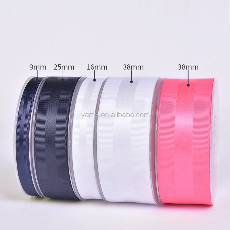 YAMA stocked new 1 inch 25 MM grosgrain side satin gifting ribbon