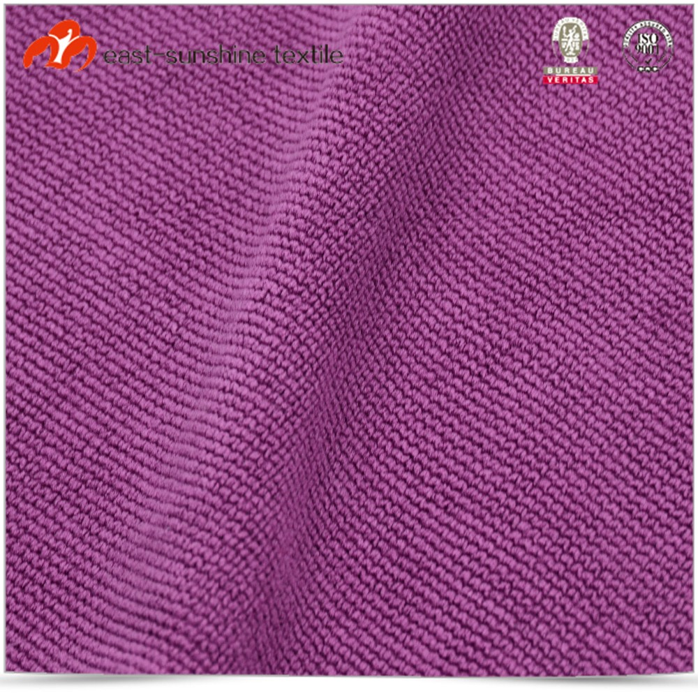 Bulk supply purple sewn edge microfiber wipe towel