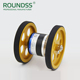 Roundss 8mm dual shaft autonics replacement wheel type rotary encoder enc-1-1-t-24