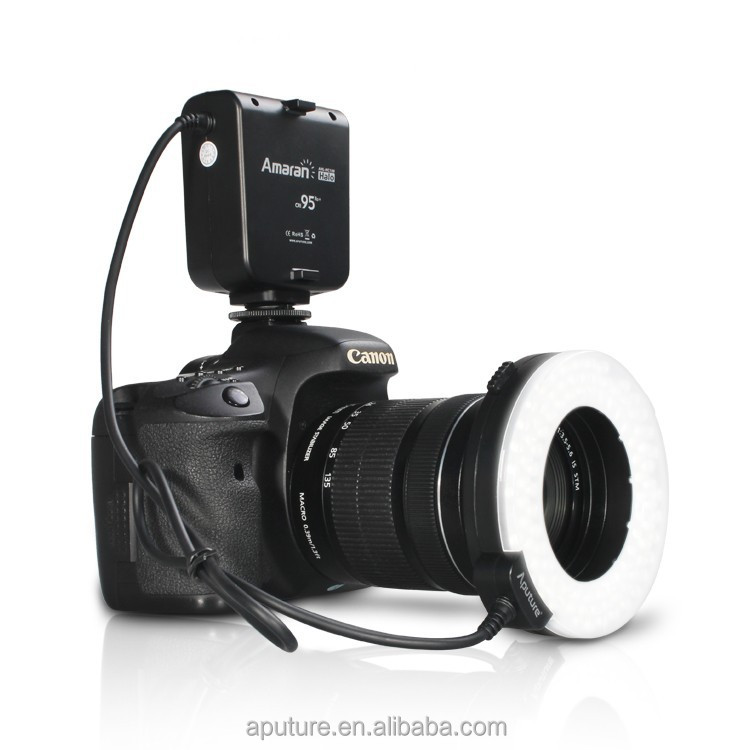 New Aputure LED Ring Flash and continuous light, close-up lighting