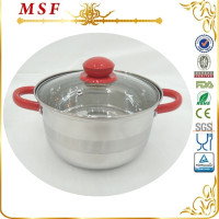 Stainless steel fire pot with colorful painting handle & knob pot