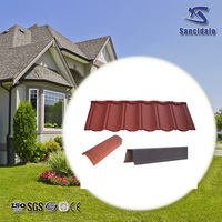 SGS Roman high quality Colorful Stone Coated Metal Roof Tile/ Building Construction Material Manufacturer