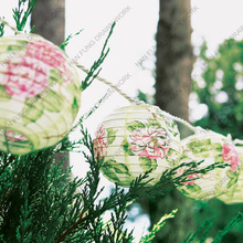 round printed paper lanterns for hanging decoration