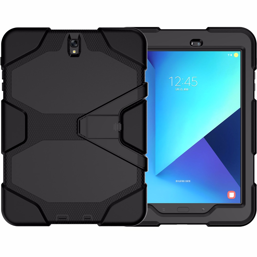 3 in 1 Protective Kid Proof Tablet Case Silicone Case <strong>Cover</strong> For Samsung Galaxy Tab S3 8.0