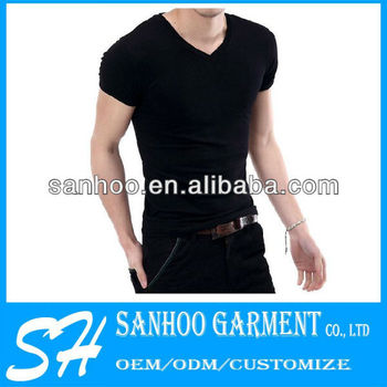 Printed Man'S V Neck Shirts With High Quality And Mixed Sizes