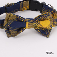 2016 Pet Products Custom Checked Flannel Dog Collar Bow Ties China Mill