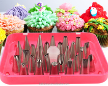 New High Quality Stainless steel 26pcs icing tips set pastry nozzles for cake decoration