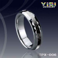 classic accessories jewelry penis tungsten jewelry ring Black Carbon Fiber Tungsten Ring