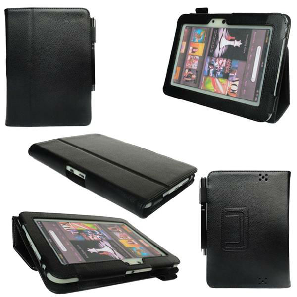 "For Amazon Kindle Fire HD 7"" inch Folio PU Leather Case Cover With Sleep & Wake Funtion KSH245"