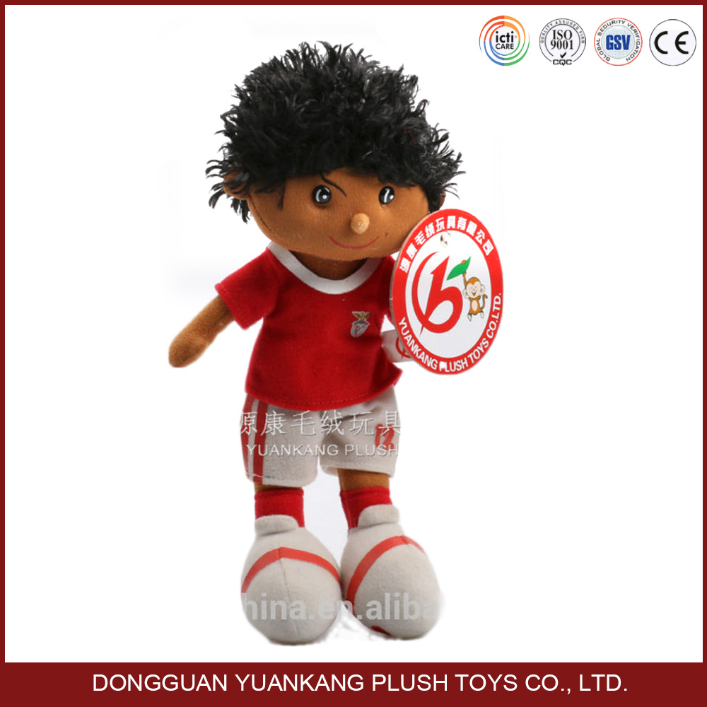Plush football player toys, stuffed soccer ball player, baseball basketball player plush doll